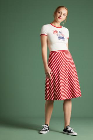 Juno Jersey Skirt Breton Stripe