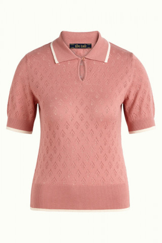 Collar Polo Top Oyster
