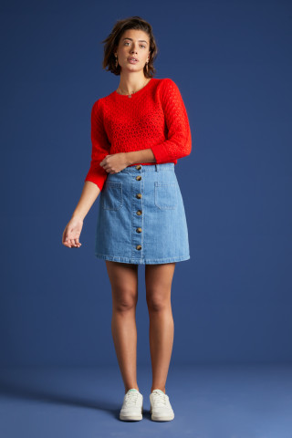 Garbo Mini Skirt Canyon Denim