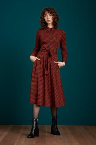 Sheeva Dress Earl Grey